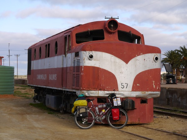 Old Ghan locomotive stuck in Marree